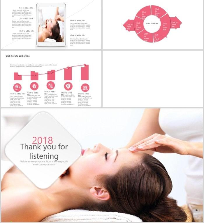 Beauty skin care plastic health PPT template PowerPoint