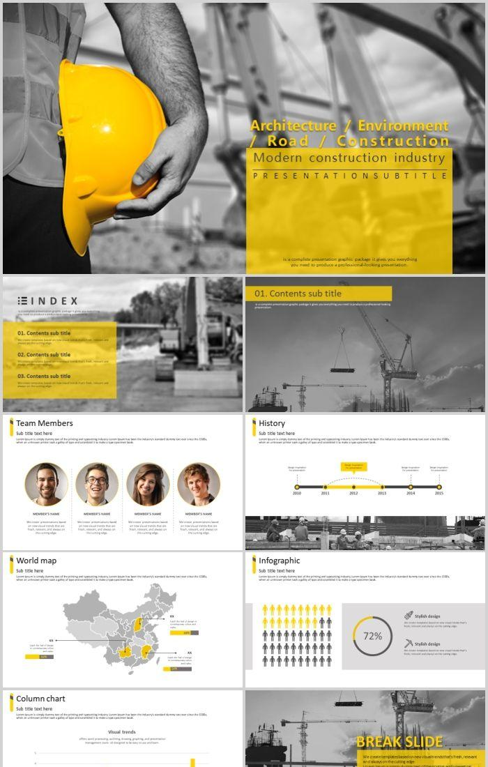 Real Estate Building Safety Civil Construction Engineering Environment Road Ppt Template Download Powerpoint Templates Professional Ppt Excel Office Documents Template Download Site