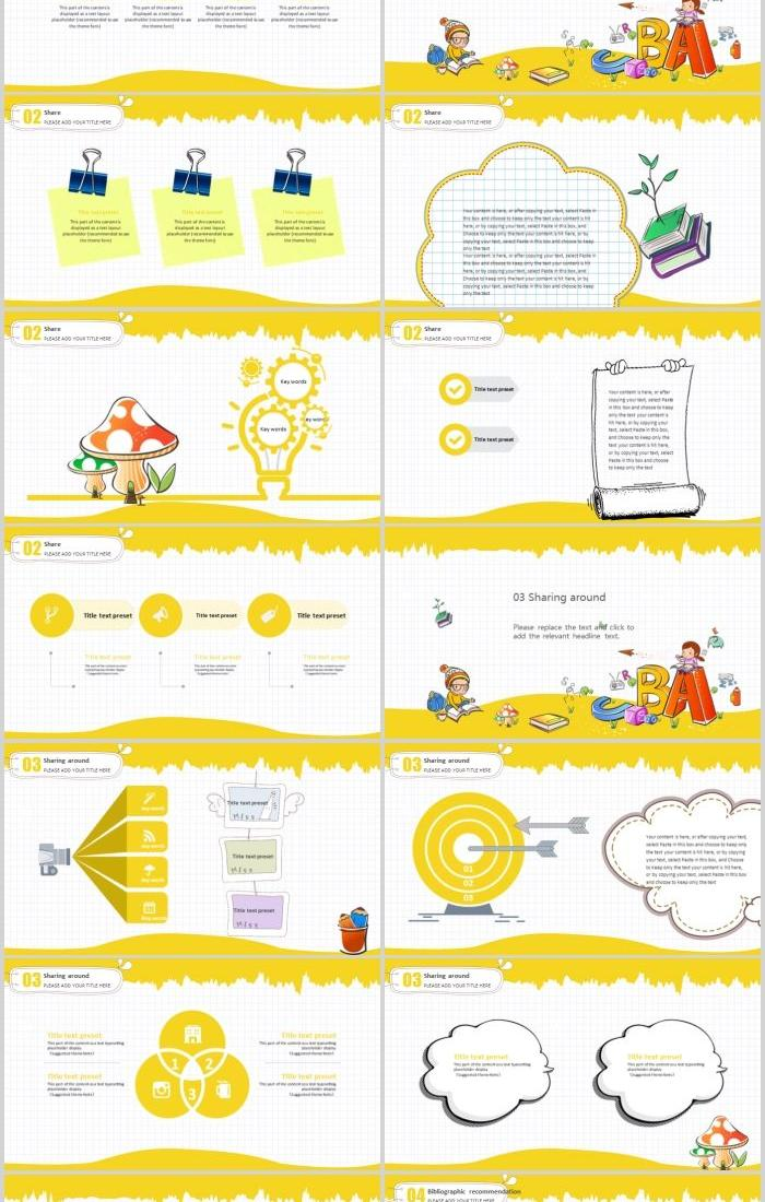 Cartoon Children S Book Sharing Session Universal Ppt Template Material Powerpoint Templates Professional Ppt Excel Office Documents Template Download Site