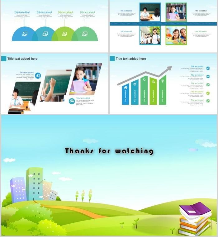 School safety first PPT template material PowerPoint