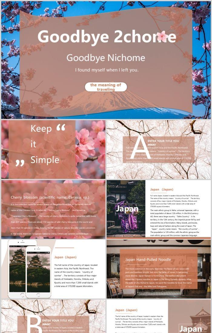 Goodbye 2 Chome Japan Travel Ppt Template Powerpoint