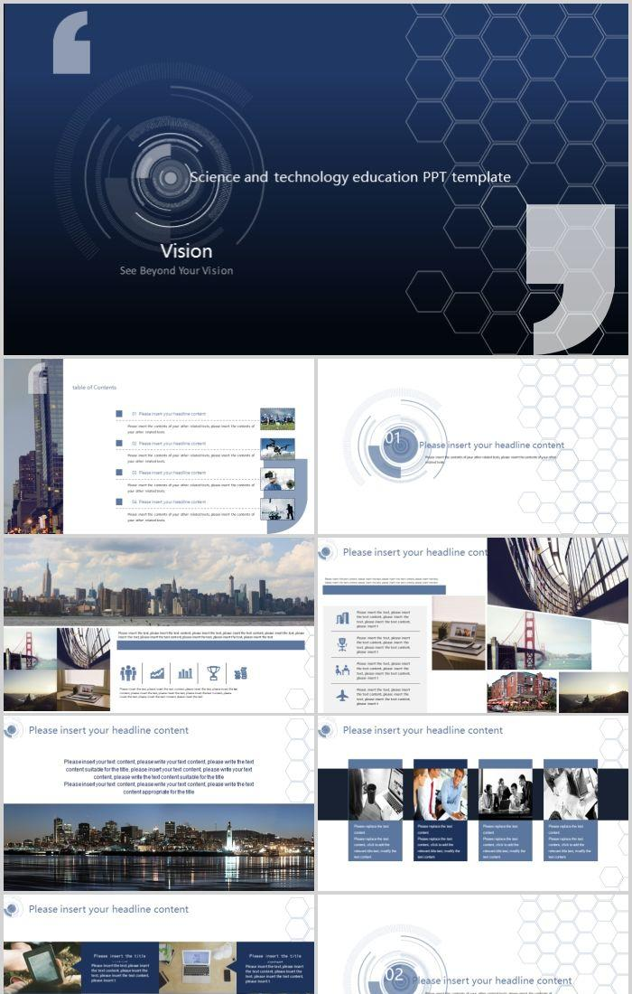 Simple And Simple Cool Technology Class Ppt Template Material Powerpoint Templates Professional Ppt Excel Office Documents Template Download Site