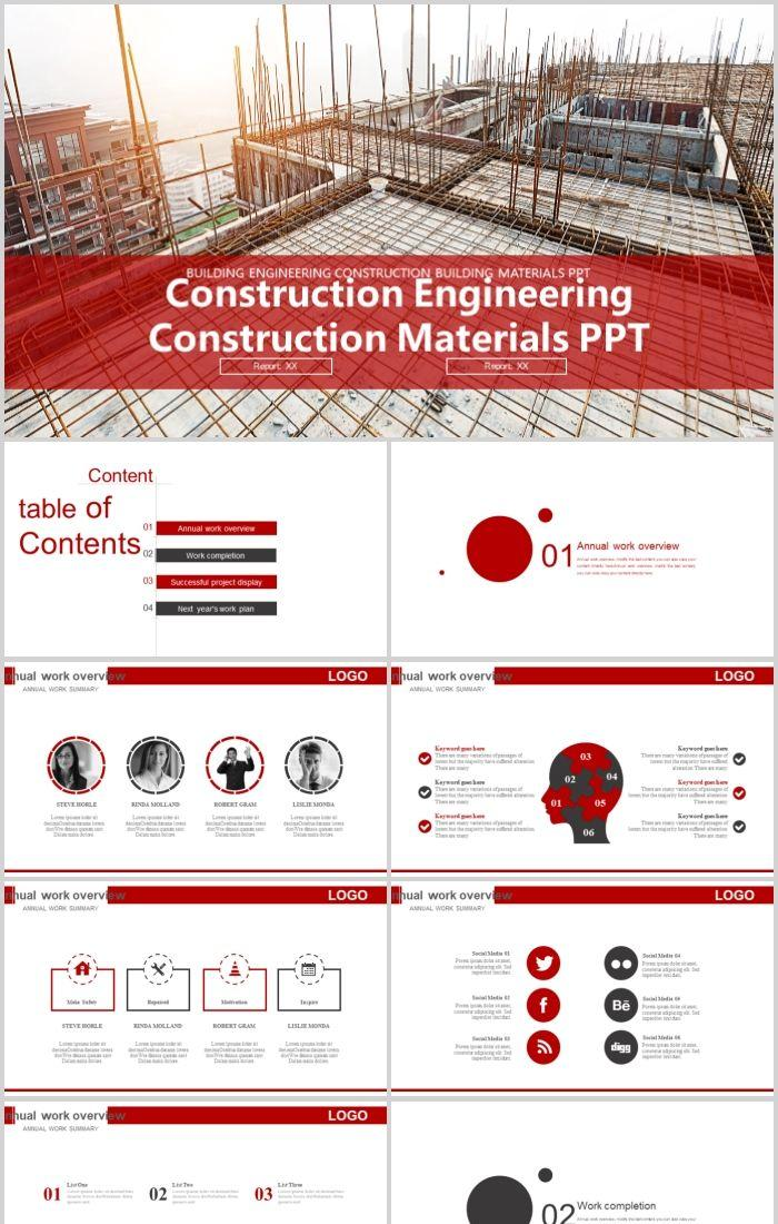 China Building Construction Construction Real Estate Ppt
